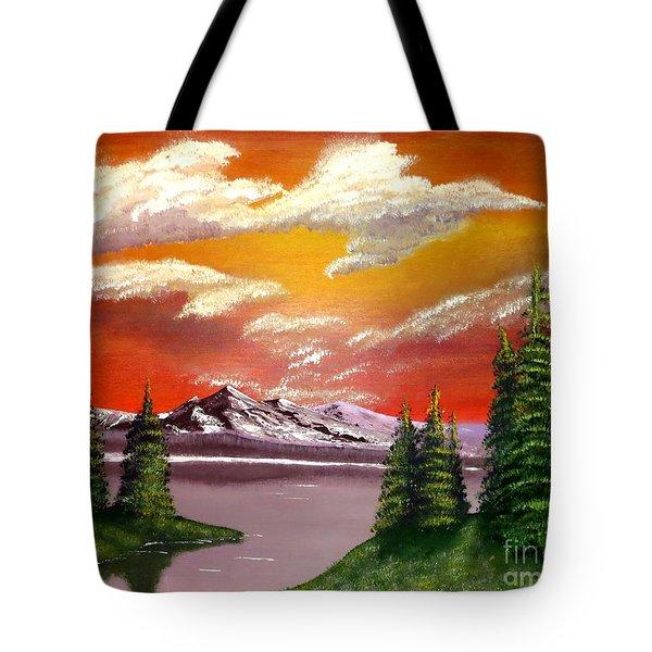 Pine Lake Tote Bag by Tim Townsend