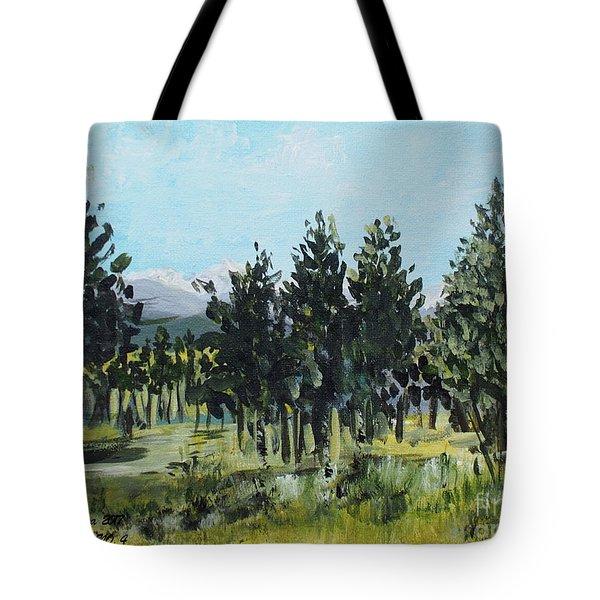 Pine Landscape No. 4 Tote Bag