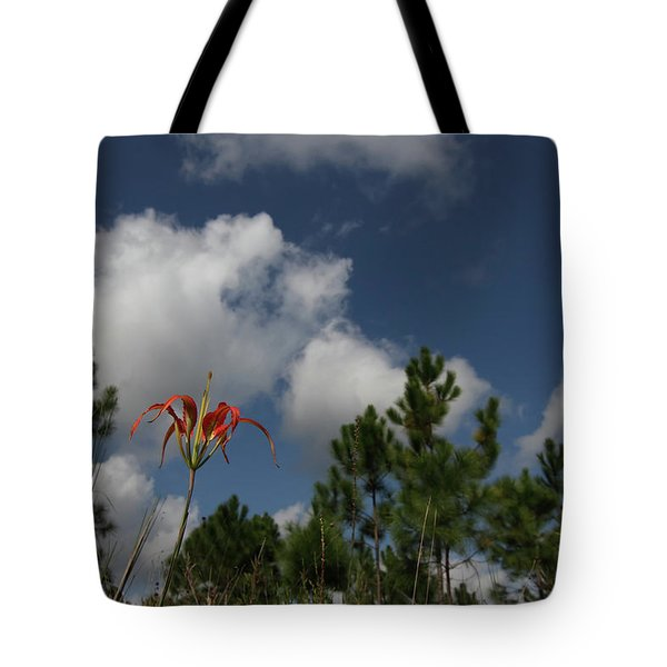 Pine Lily And Pines Tote Bag