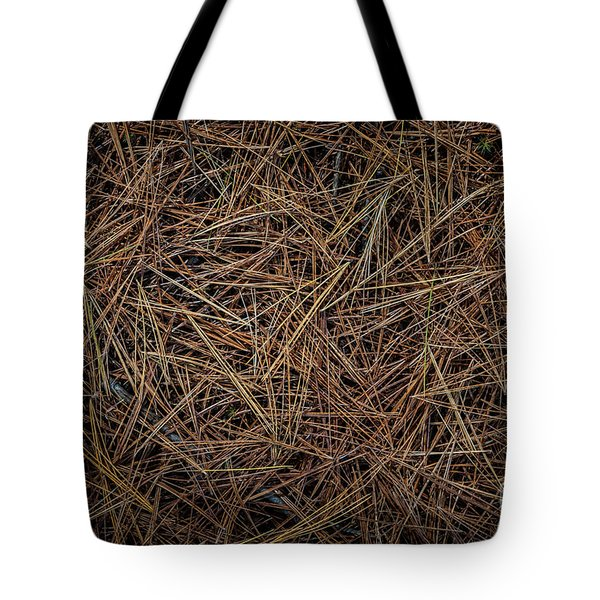 Tote Bag featuring the photograph Pine Needles On Forest Floor by Elena Elisseeva