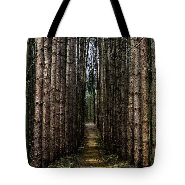 Pine Path  Tote Bag