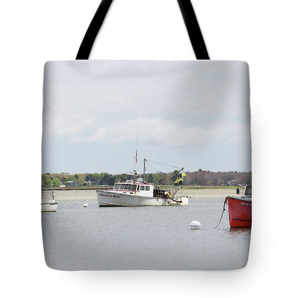 Pine Point Boats Tote Bag