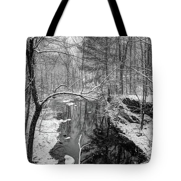 Pine Reflection On The Sheepscot Tote Bag