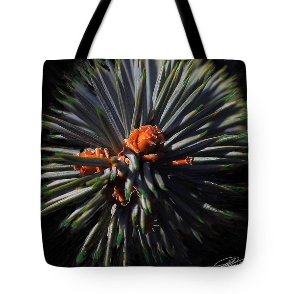 Pine Rose Tote Bag