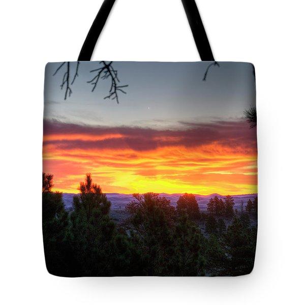 Pine Sunrise Tote Bag