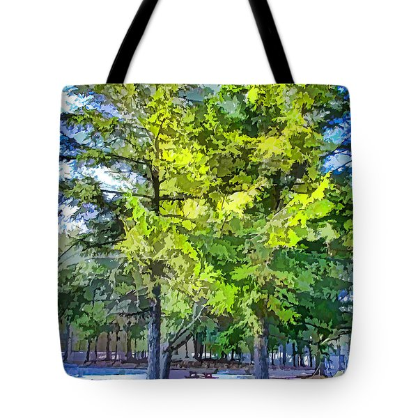 Pine Tree 1 Tote Bag by Lanjee Chee