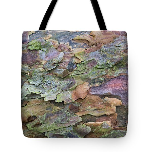 Pine Tree Bark Tote Bag by Tim Gainey