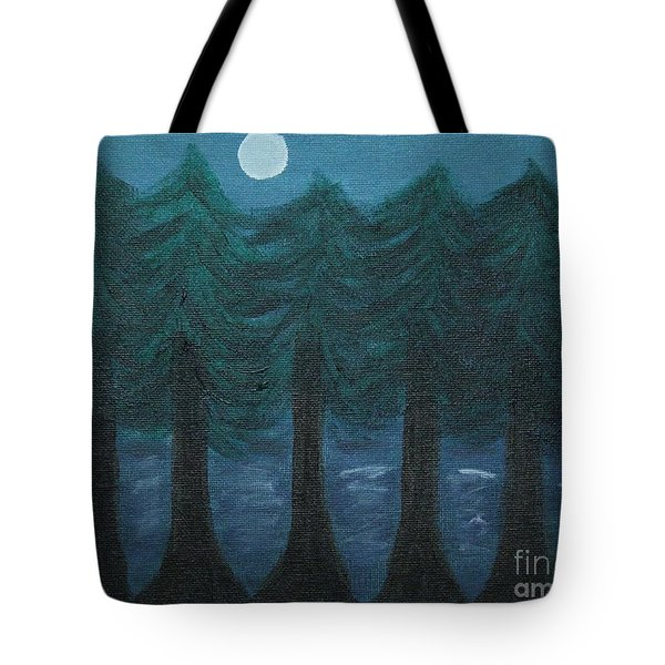 Pine Tree Lake Tote Bag