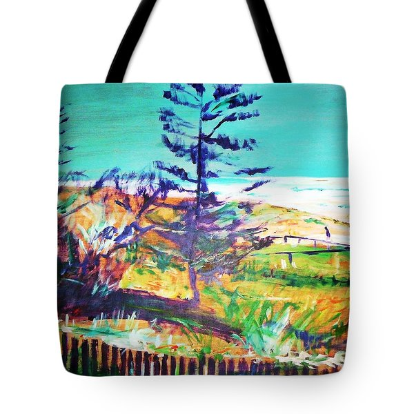 Pine Tree Pandanus Tote Bag by Winsome Gunning