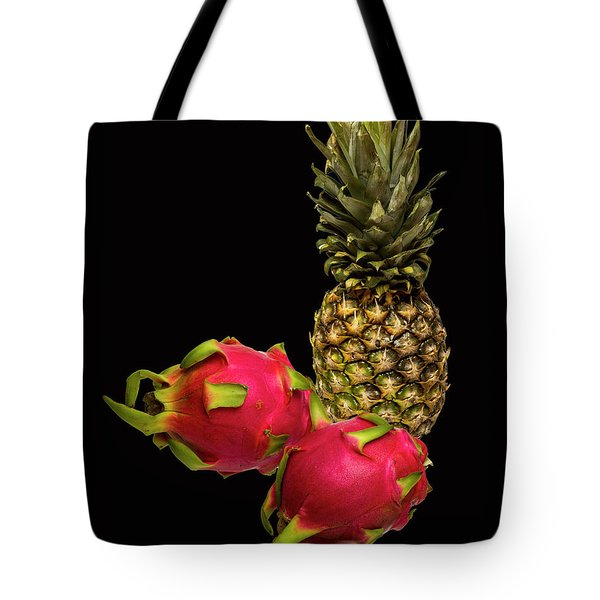 Tote Bag featuring the photograph Pineapple And Dragon Fruit by David French