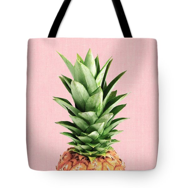Pineapple And Pink Tote Bag by Vitor Costa