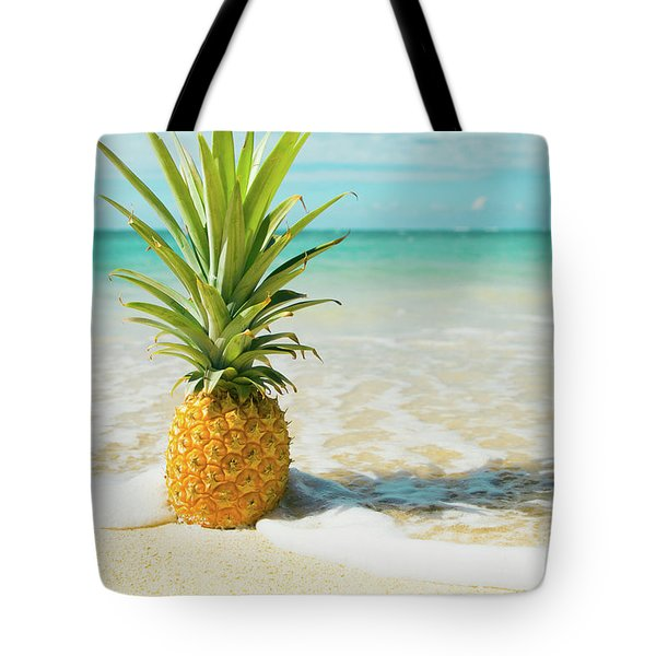 Tote Bag featuring the photograph Pineapple Beach by Sharon Mau