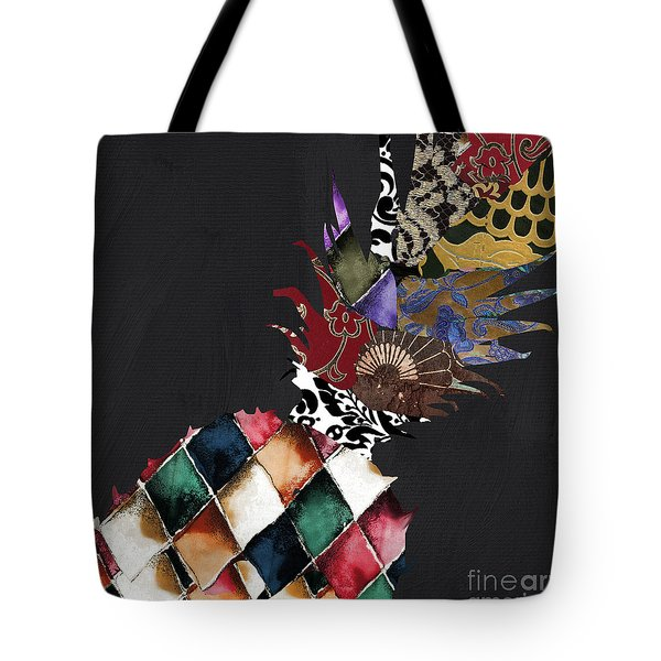 Pineapple Brocade Tote Bag by Mindy Sommers