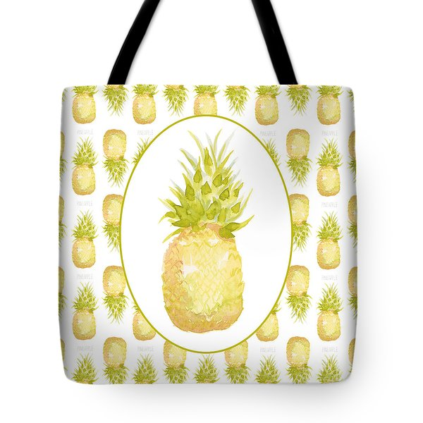 Tote Bag featuring the painting Pineapple Cameo by Cindy Garber Iverson