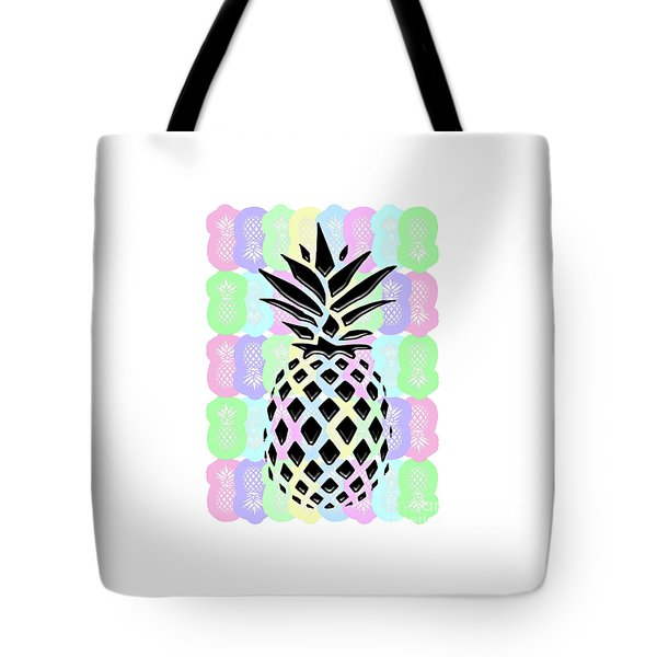 Pineapple Collage Tote Bag