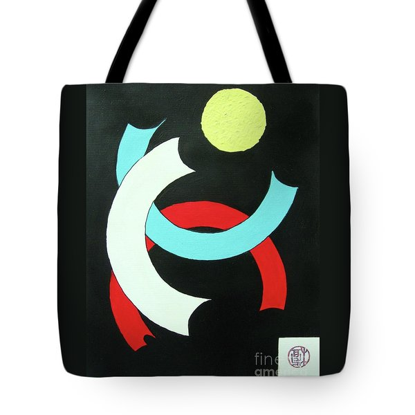 Tote Bag featuring the painting Pineapple Moon by Roberto Prusso