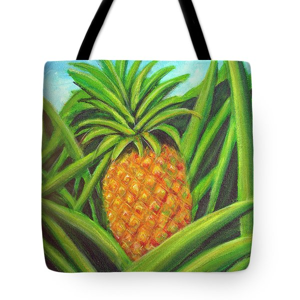 Pineapple Painting #332 Tote Bag by Donald k Hall