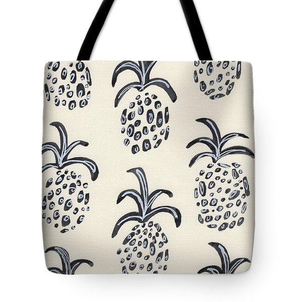 Pineapple Print Tote Bag by Anne Seay