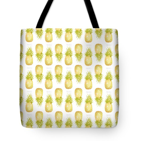 Tote Bag featuring the painting Pineapple Print by Cindy Garber Iverson