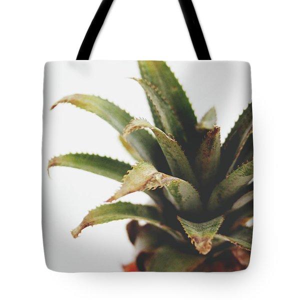 Pineapple Top- Art By Linda Woods Tote Bag