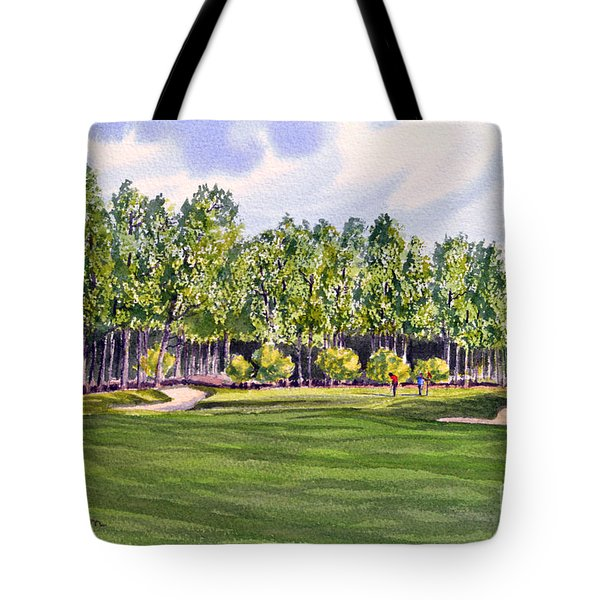 Pinehurst Golf Course 17th Hole Tote Bag