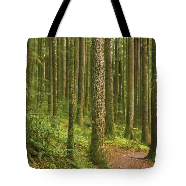 Pines Ferns And Moss Tote Bag