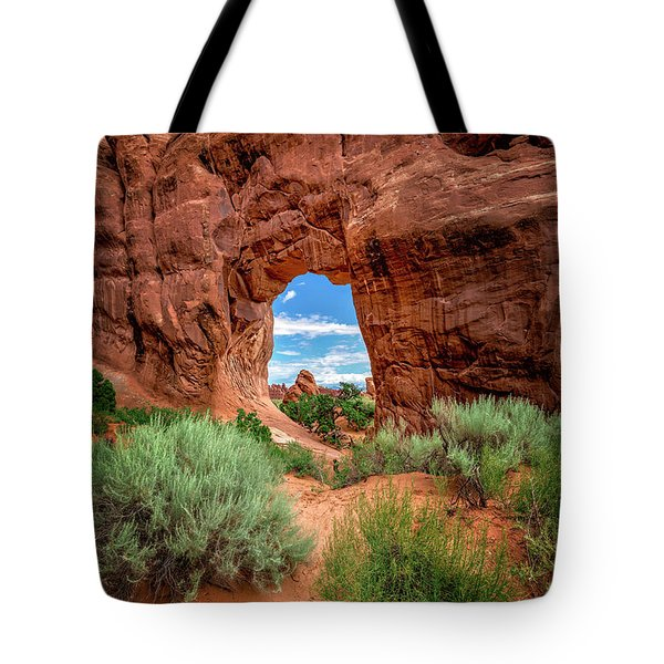 Pinetree Arch Tote Bag