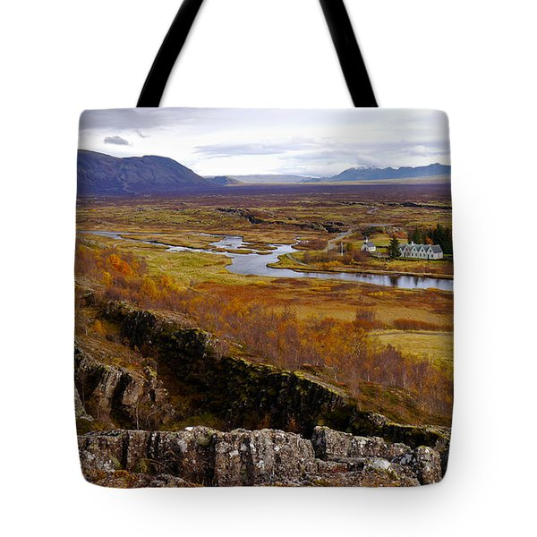Pingvellir National Park Iceland Tote Bag