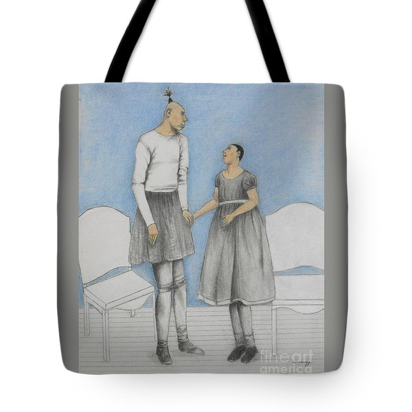 Pinhead Friends -- Portrait Of 2 Developmentally Disabled Men Tote Bag