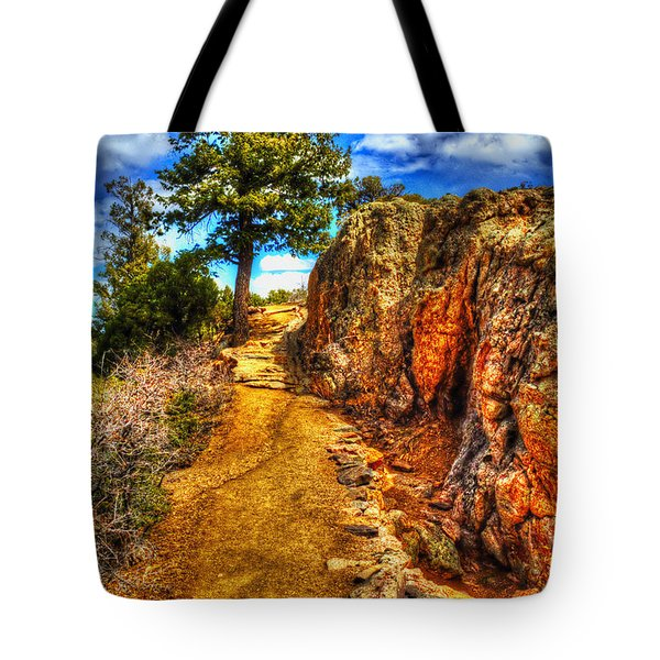 Ponderosa Pine Guarding The Trail Tote Bag