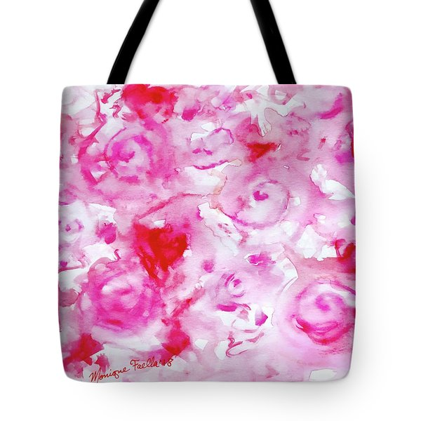 Pink Abstract Floral Tote Bag