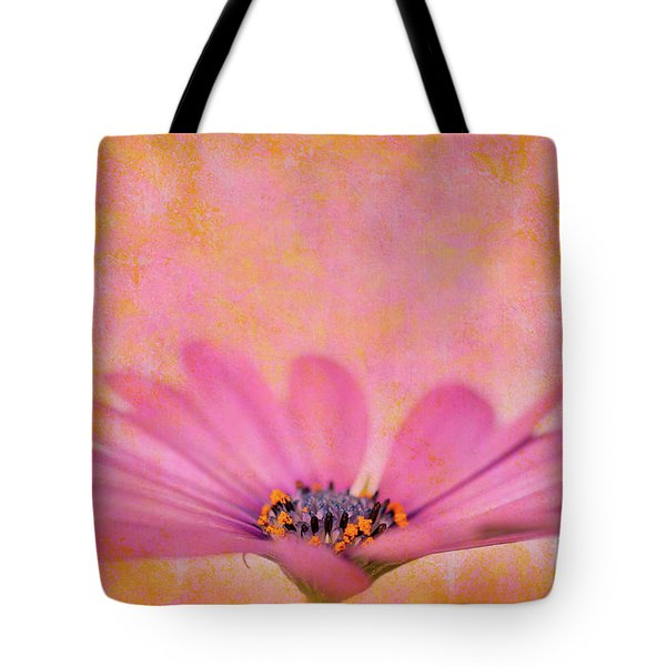 Pink African Daisy Tote Bag