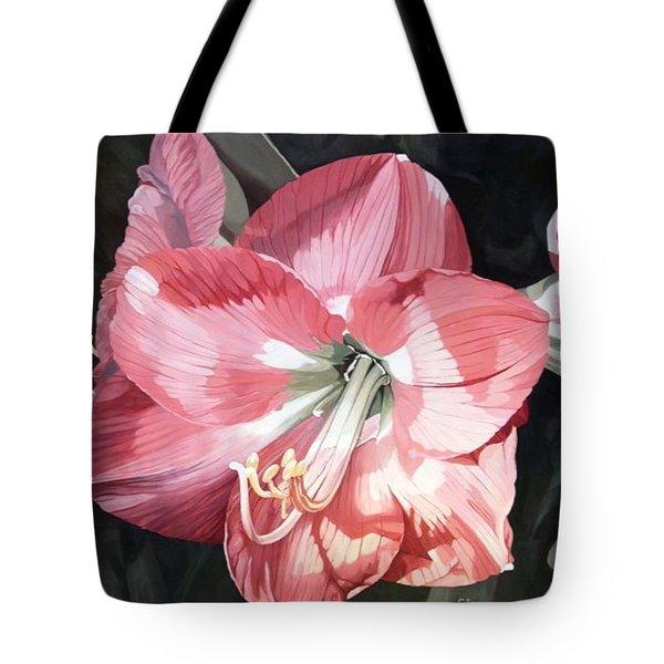 Pink Amaryllis Tote Bag