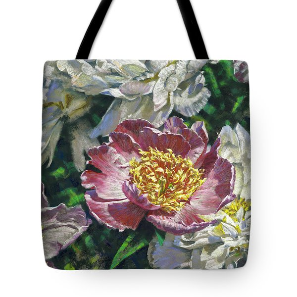 Pink Amid White Tote Bag