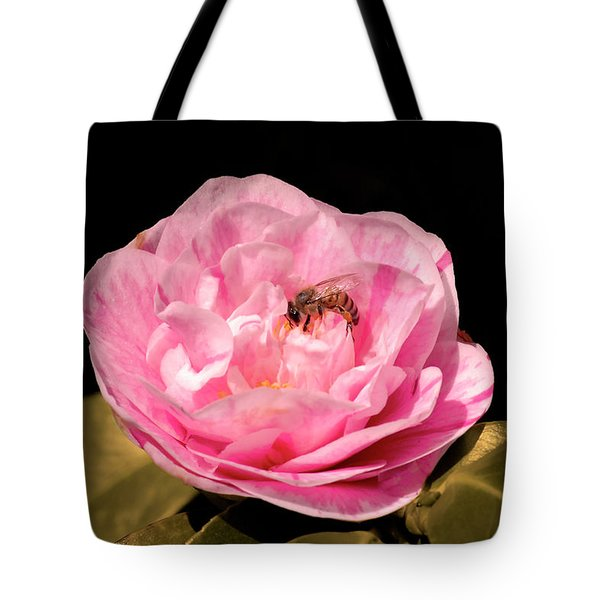 Pink And Bee Tote Bag