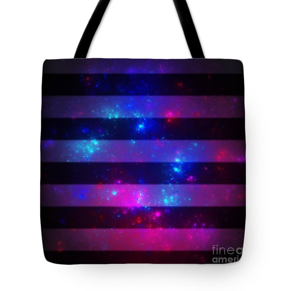 Pink And Blue Striped Galaxy Tote Bag