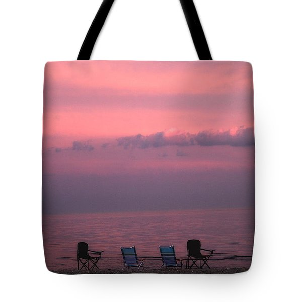 Pink And Deserted Tote Bag by Karol Livote