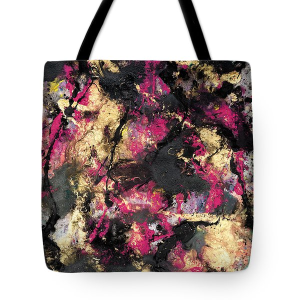 Pink And Gold Merge Tote Bag