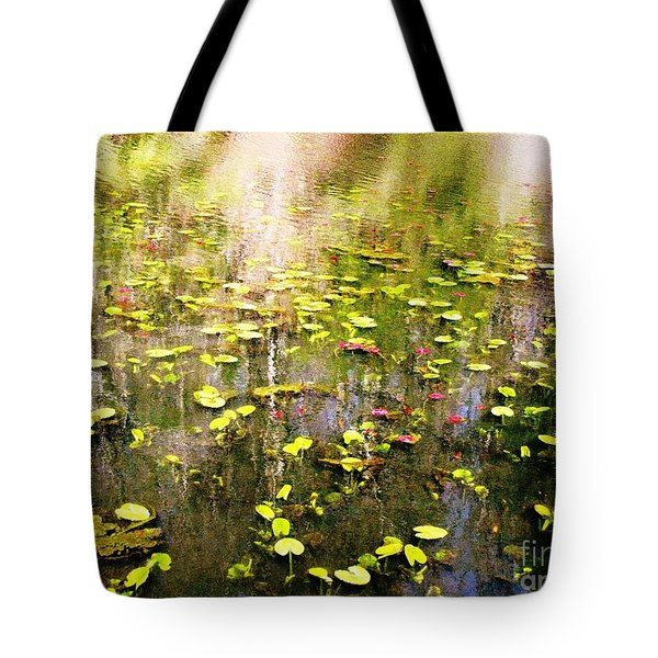 Tote Bag featuring the photograph Pink And Green by Melissa Stoudt