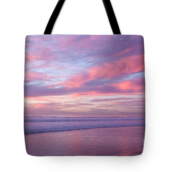 Pink And Lavender Sunset Tote Bag