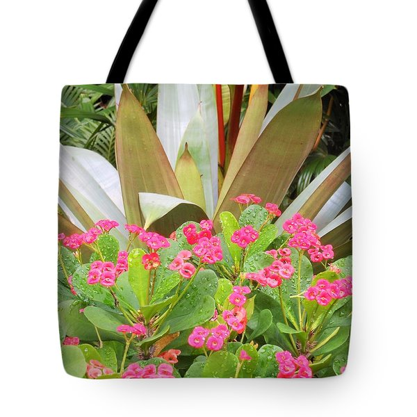 Pink And Spiky Tote Bag by Kay Gilley