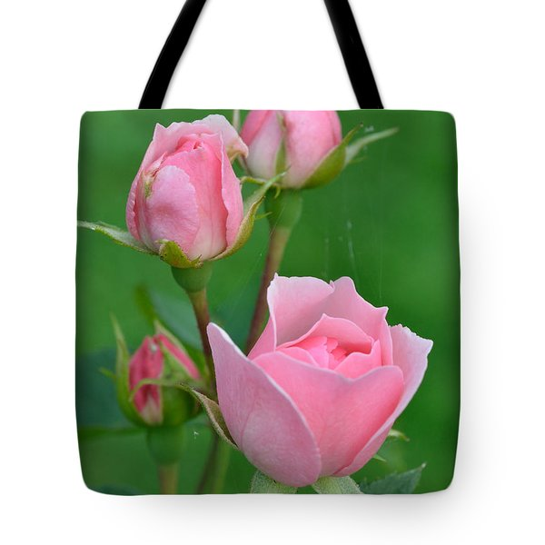 Pink And The Buds Tote Bag