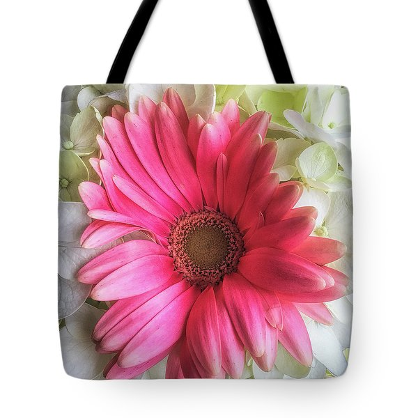 Pink And White Bouquet Tote Bag