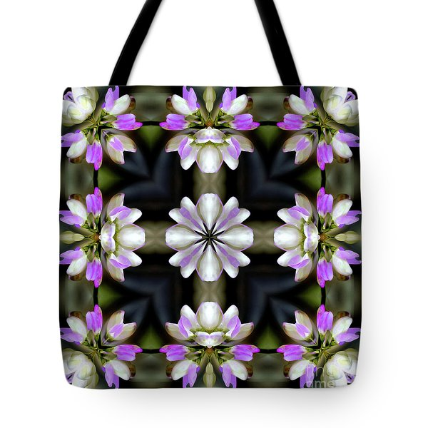 Pink And White Flowers Abstract Tote Bag