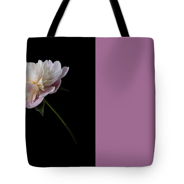 Pink And White Peony Tote Bag