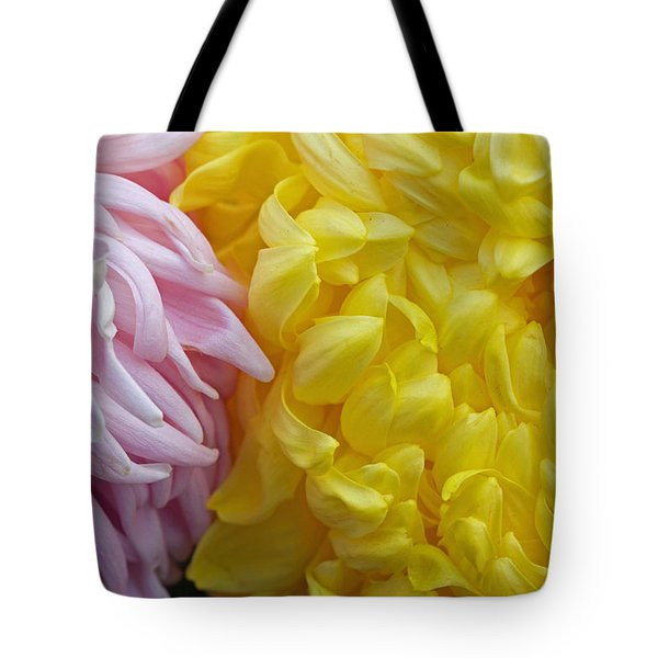 Pink And Yellow Mums Tote Bag