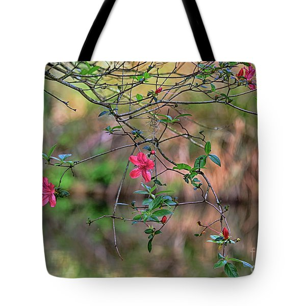 Tote Bag featuring the photograph Pink Azalea Dream by Deborah Benoit