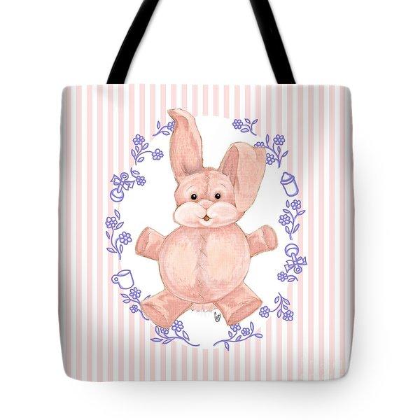 Pink Baby Bunny Tote Bag
