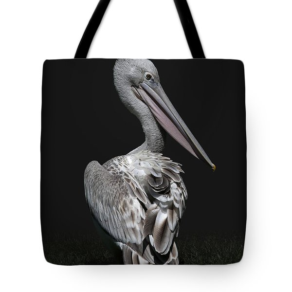 Pink-backed Pelican Rear View Tote Bag