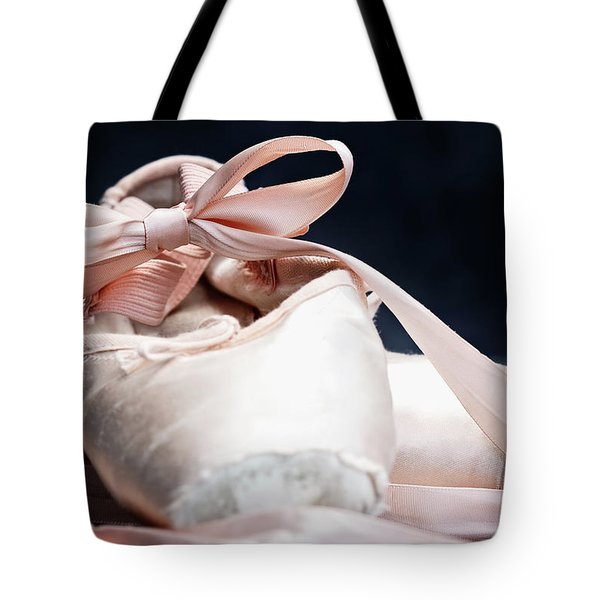 Pink Ballerina Pointe Shoes Tote Bag